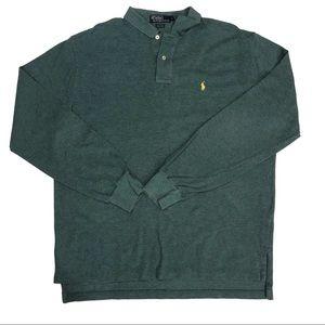 Polo Ralph Lauren Green Long Sleeve Shirt Cotton